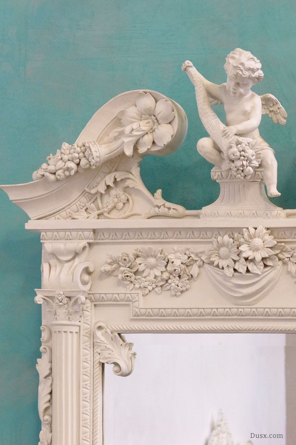 Putti french rococo white mirror for sale at dusx dusx putti french rococo white mirror for sale at dusx dusx aloadofball Images