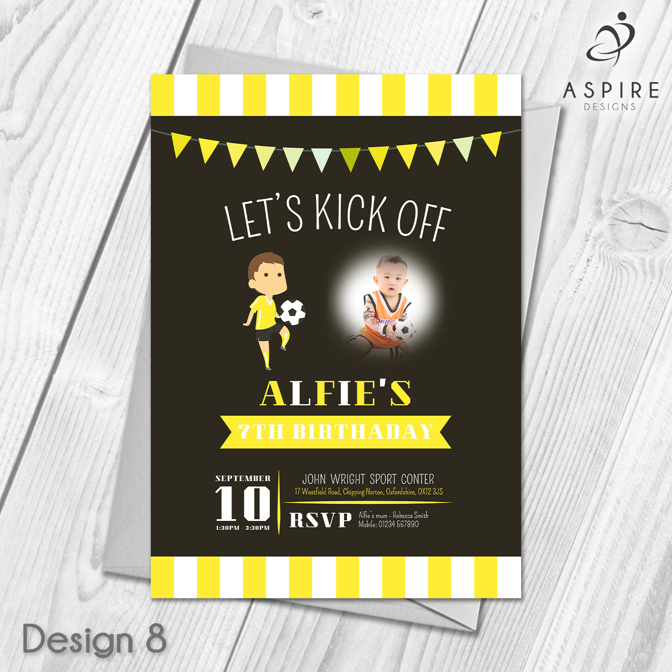 Personalised Children\'s Football Birthday Party Invitations ...
