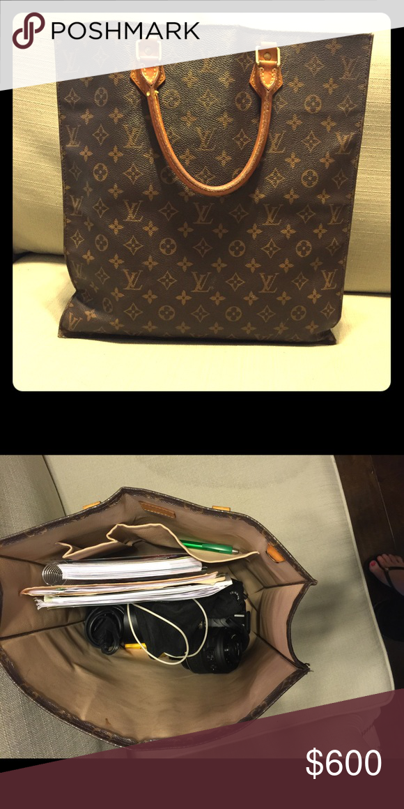 68bd7aeea392 Authentic Louis Vuitton Sac Plat Tote Excellent used condition. Slight  leather wear on the handles. Like-new Interior. Will include the LV dust bag  that was ...