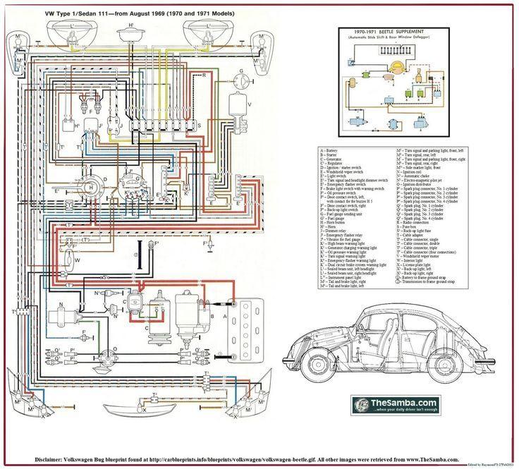El�trica Vw Ar Esquema El�trico Fusca 70 E 71 Mike Pinterest Rhpinterest: Baja Bug Wiring Diagram At Elf-jo.com