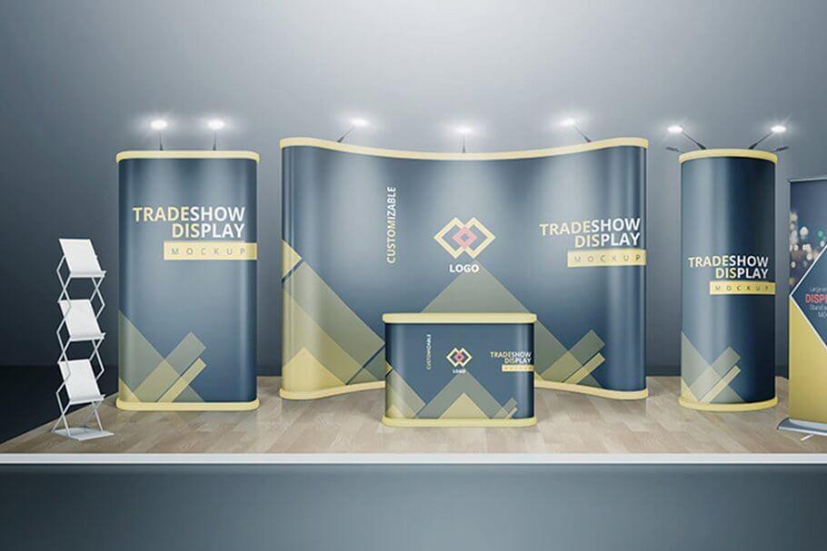 20 Creative Trade Show Booth Mockup Psd Templates 19 Trade Show Booth Design Booth Design Tradeshow Booth