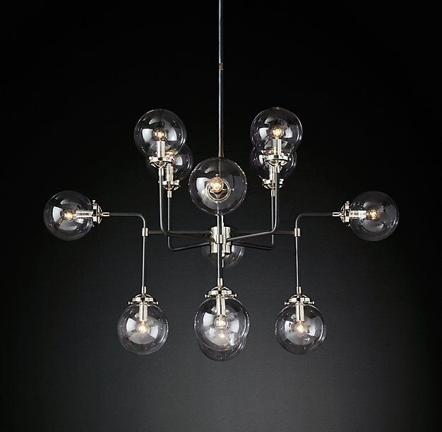 Bistro globe clear glass chandelier 12 light 415 pinterest bistro globe clear glass chandelier 12 light aloadofball