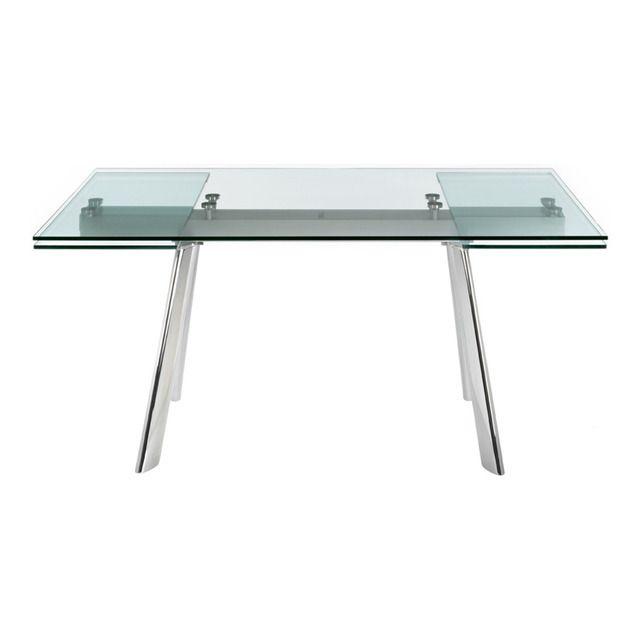 Una Moderna Mesa De Comedor Extensible Para Que Puedas Tener Espacio Suficie Mesas De Comedor Extensibles Mesa Comedor Cristal Extensible Mesa Comedor Cristal