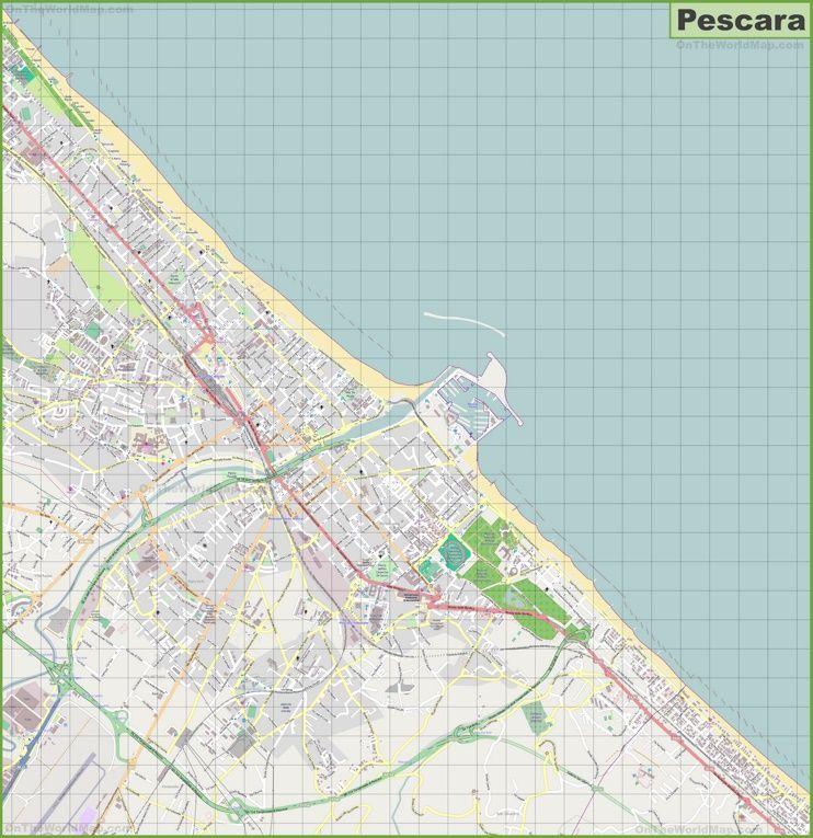 Large detailed map of Pescara Maps Pinterest Italy