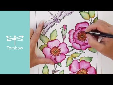Watercolor with Markers | Using Tombow Dual Brush Pens to Color ...