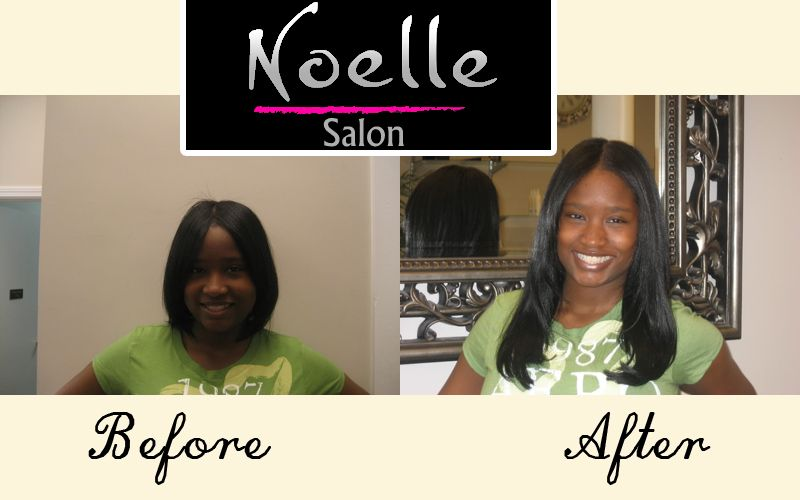 Noelle Salon Fusion Hair Extensions On Relaxed Hair Noellesalon