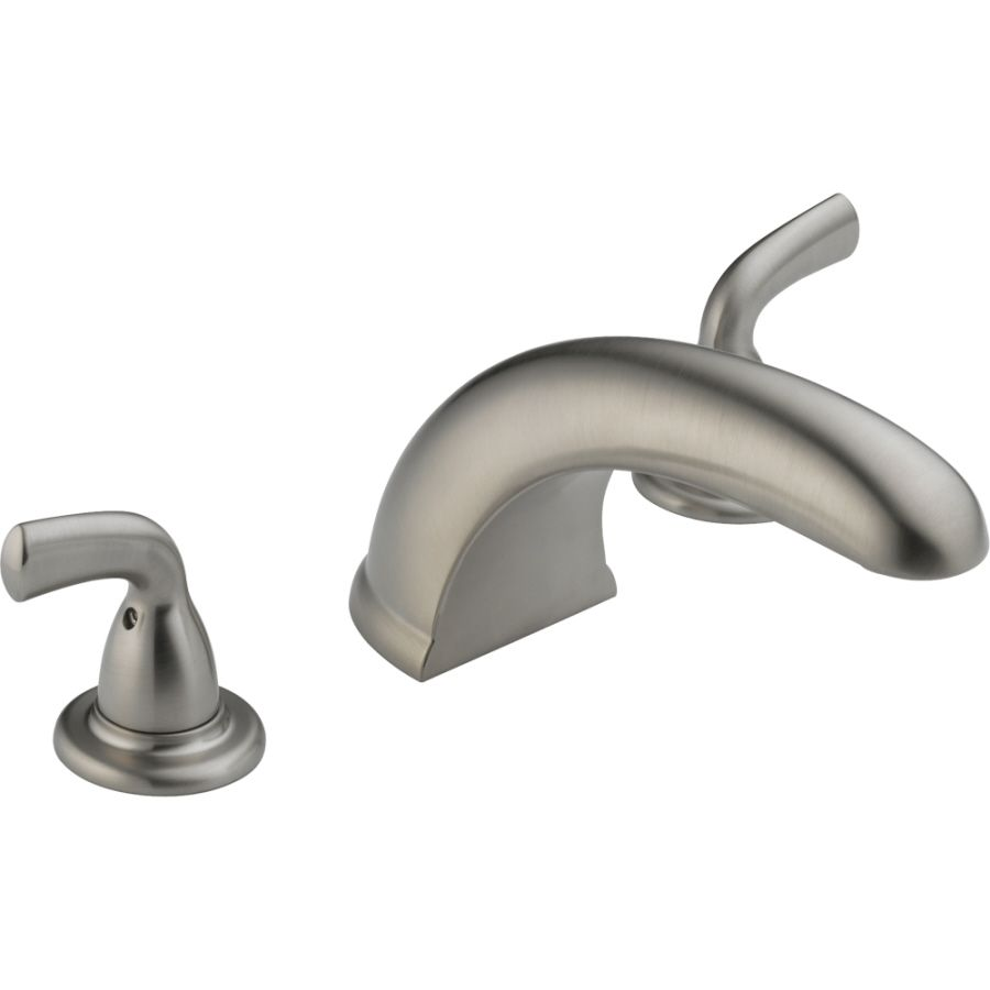 Delta Classic Stainless 2 Handle Residential Deck Mount Roman Bathtub Faucet Lowes Com Roman Tub Tub Faucet Roman Tub Faucets Delta roman tub faucet brushed nickel