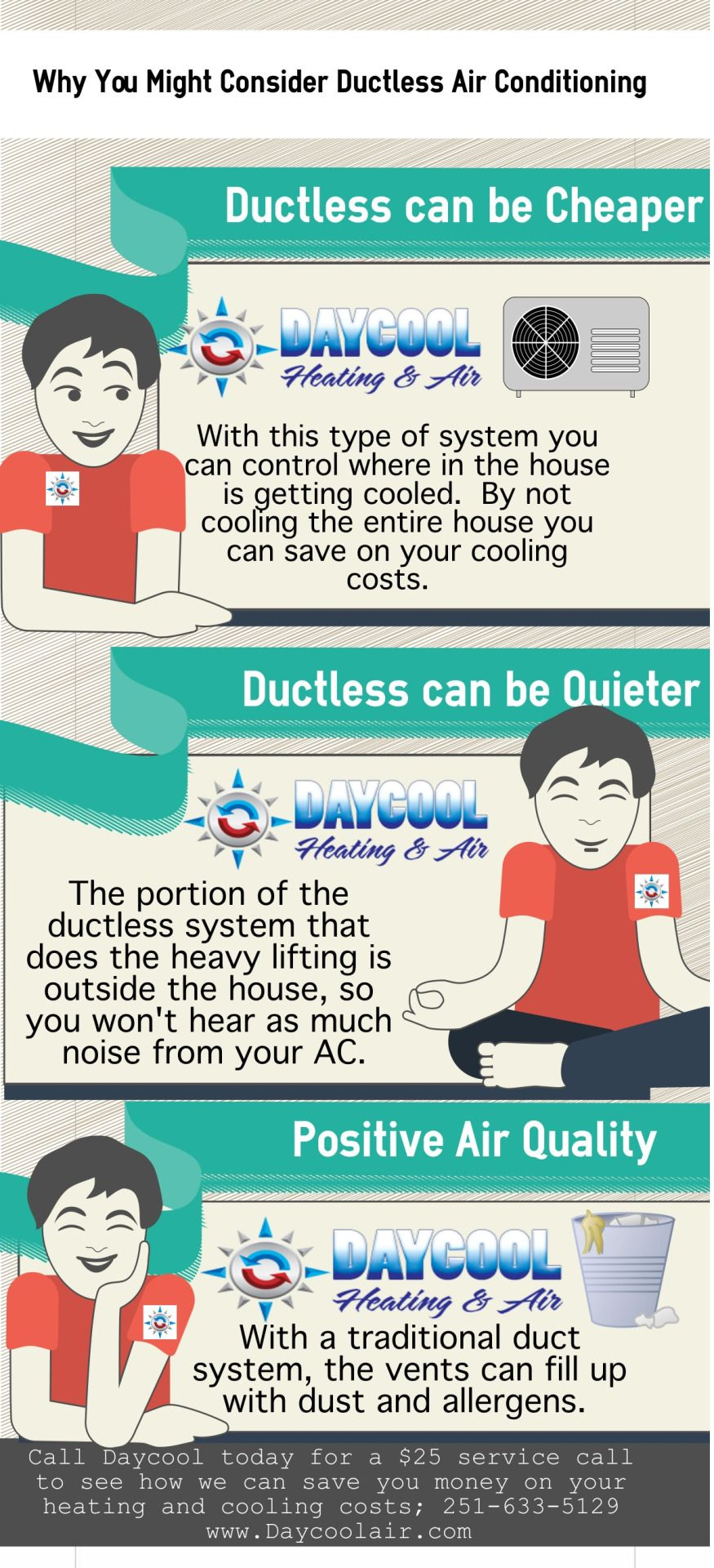Daycool Heating & Air Social media, Infographic, Graphic