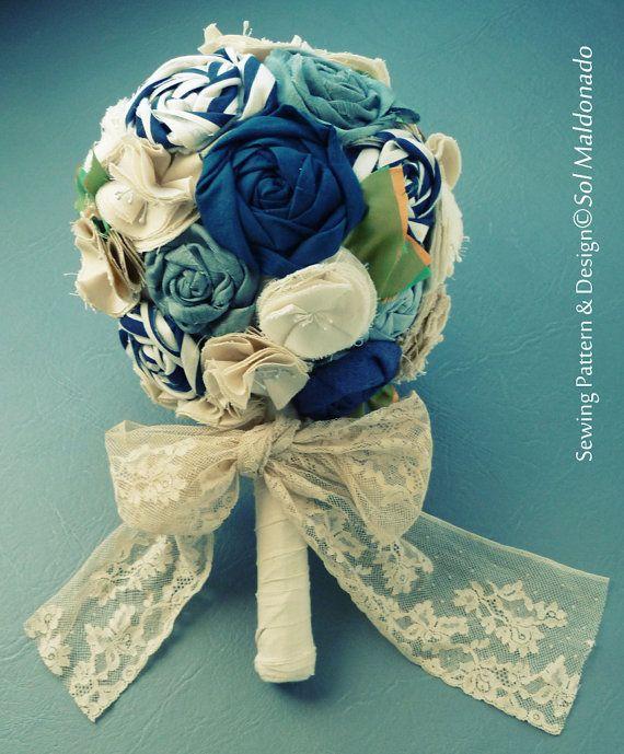Fabric Flower Wedding Bouquet Tutorial: Bridal Bouquet Fabric Flower 4Ever Love Tutorial PDF