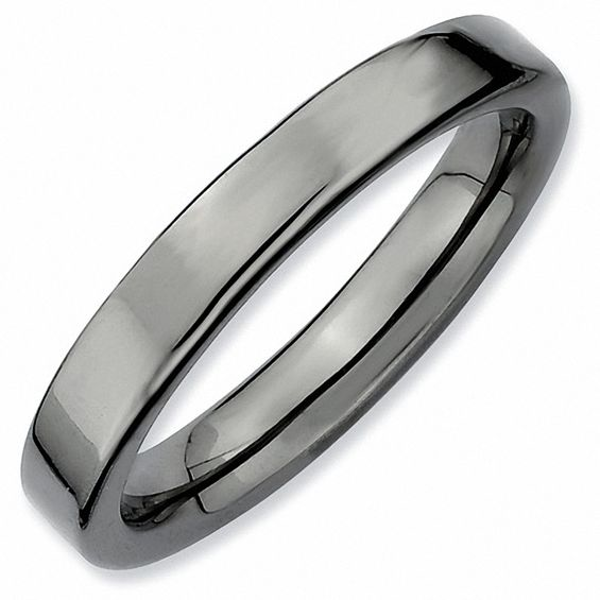 Stackable Expressions 3 0mm Flat Polished Band In