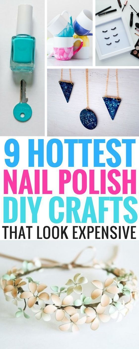 9 Hottest DIY Crafts You Can Do Using Nail Polish #craftstomakeandsell