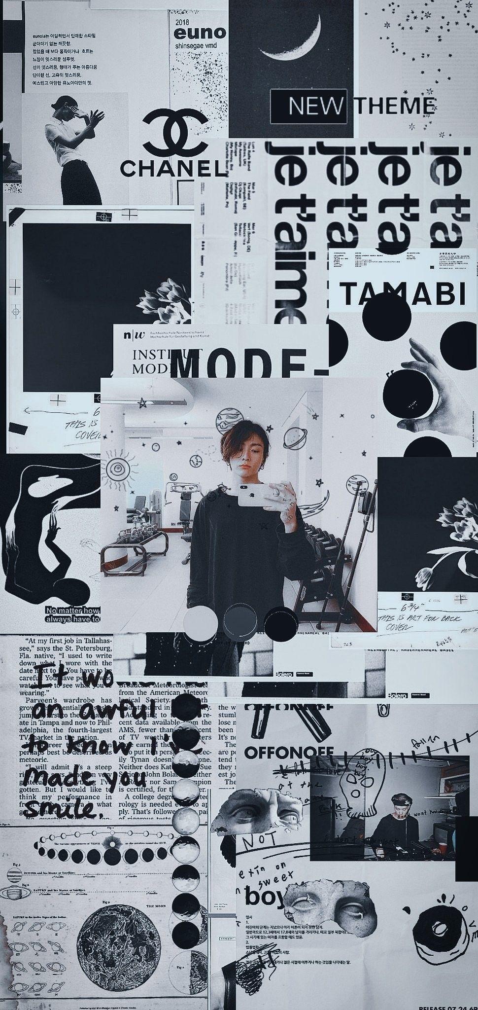 Download Premium Jungkook Black Wallpaper Iphone for iPhone X Free