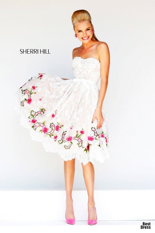Fabulosos vestidos de fiesta cortos   Coleccion Sherri Hill   prom ...