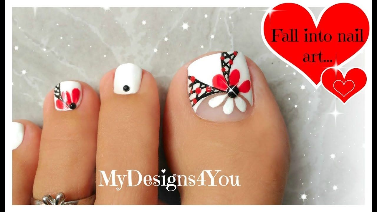 Fl Toenail Art Tutorial Summer Pedicure