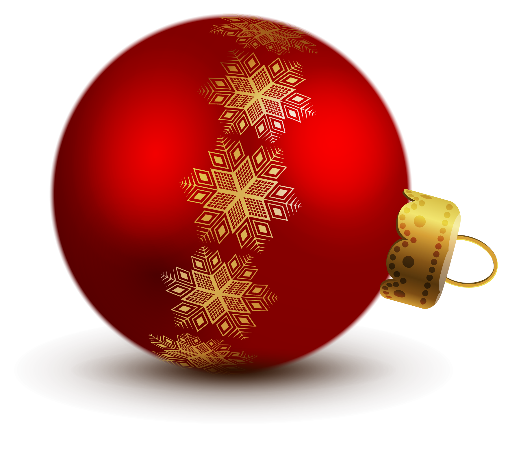 Transparent Red Christmas Ball Ornaments Clipart Red