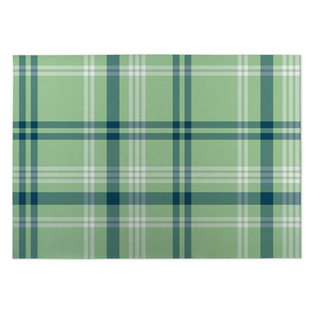 Kavka Designs Green/ Blue Plaid Coral Navy Mint Indoor