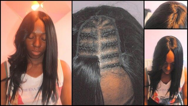 Natural Weave Part No Leave Out No Hair Glue Images Of Braids