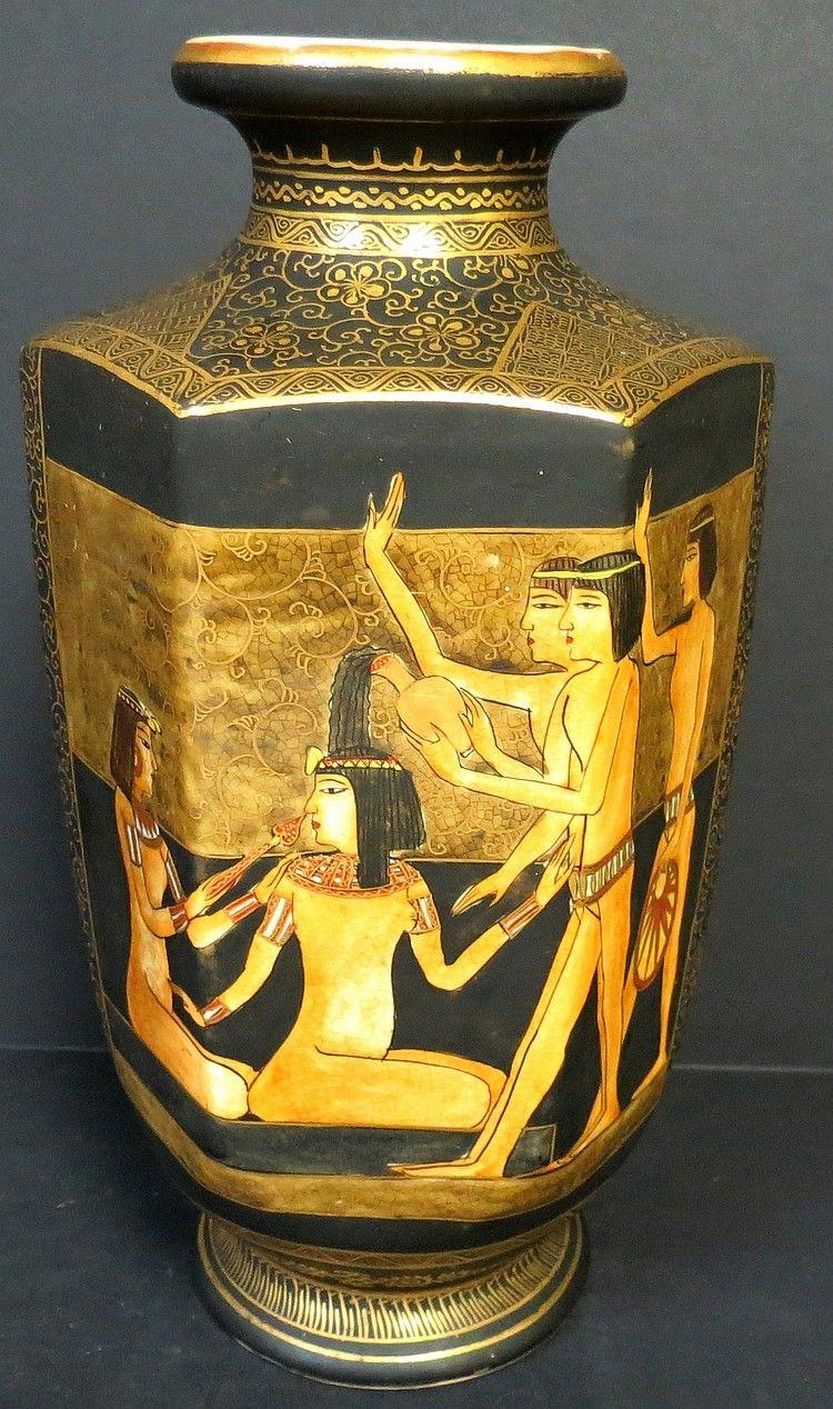 Satsuma vase egyptian decoration rare h 8 portelan satsuma vase egyptian decoration rare h 8 reviewsmspy