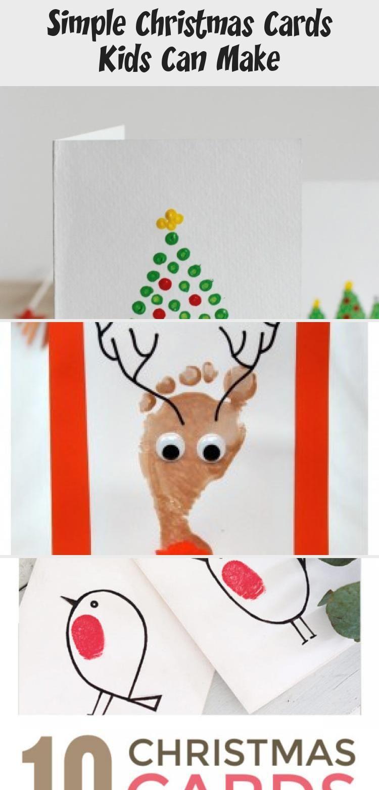 Handmade Christmas Cards Kids Can Make Easy Cute Diy Homemade Christmas Card Ideas Suitable F In 2020 Christmas Cards Kids Simple Christmas Cards Print Christmas Card