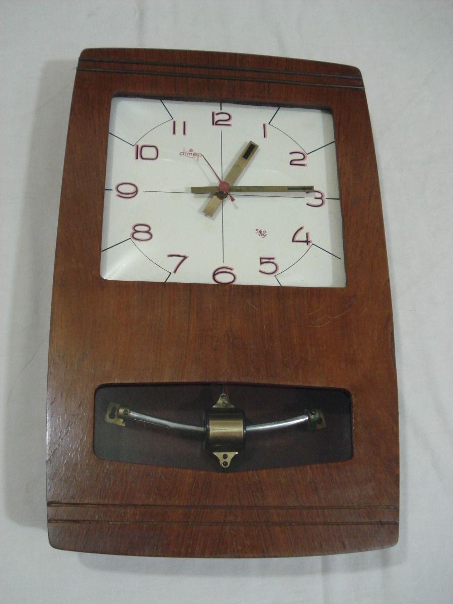 466dc65241c Antigo Relógio Parede Marca Tagus Dimep Transistor Década 60 - R  250