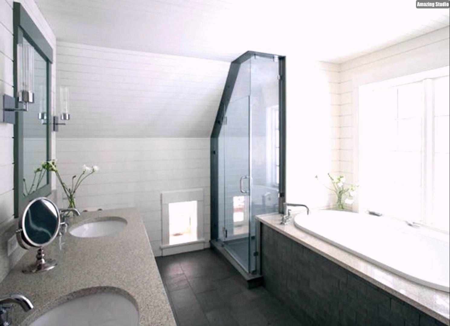 Gestaltungsideen Badezimmer » Badezimmer mit dachschru00e4ge ...