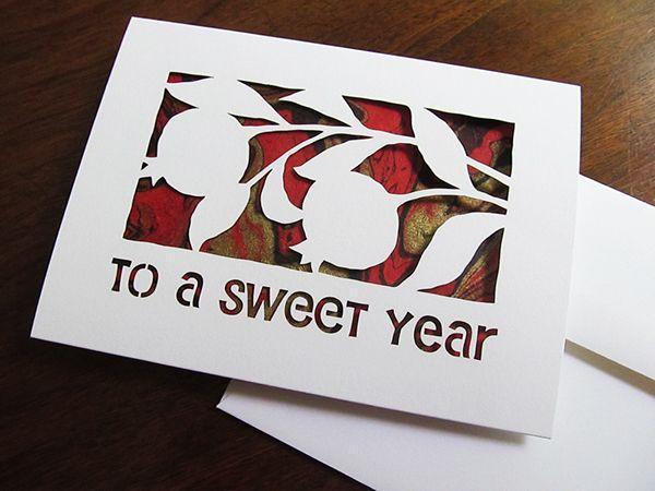Rosh Hashana Jewish New Year Greeting Card - Hebrica on Behance - new year greeting card template
