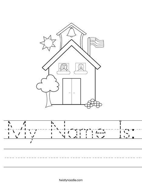 My Name Is Worksheet Preschool Names I Love School Name Tracing Worksheets