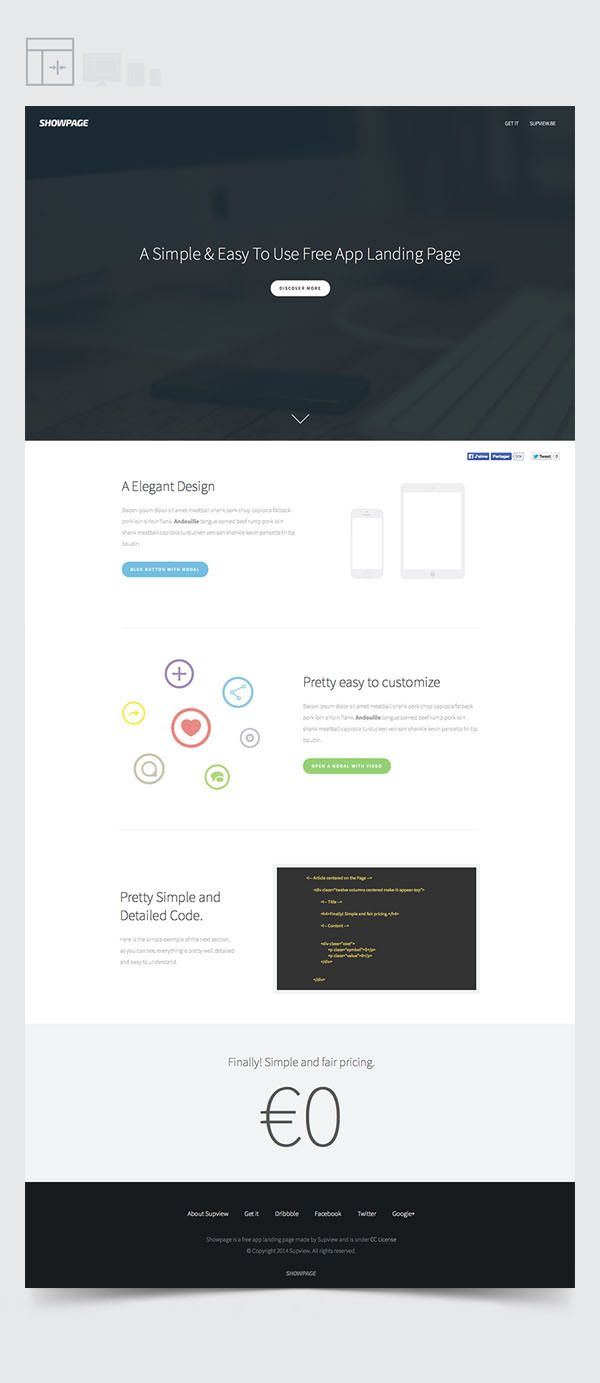 ShowPage - A Free / Simple / Easy To Use Template