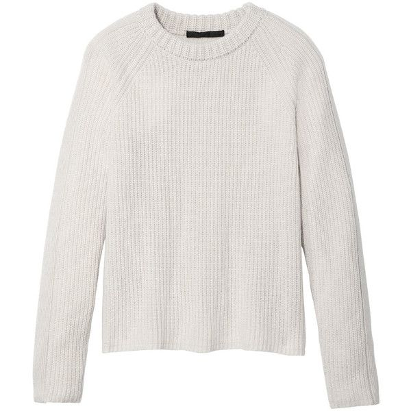 Jenni Kayne Ivory Cashmere Fisherman Sweater ($395) ❤ liked on ...