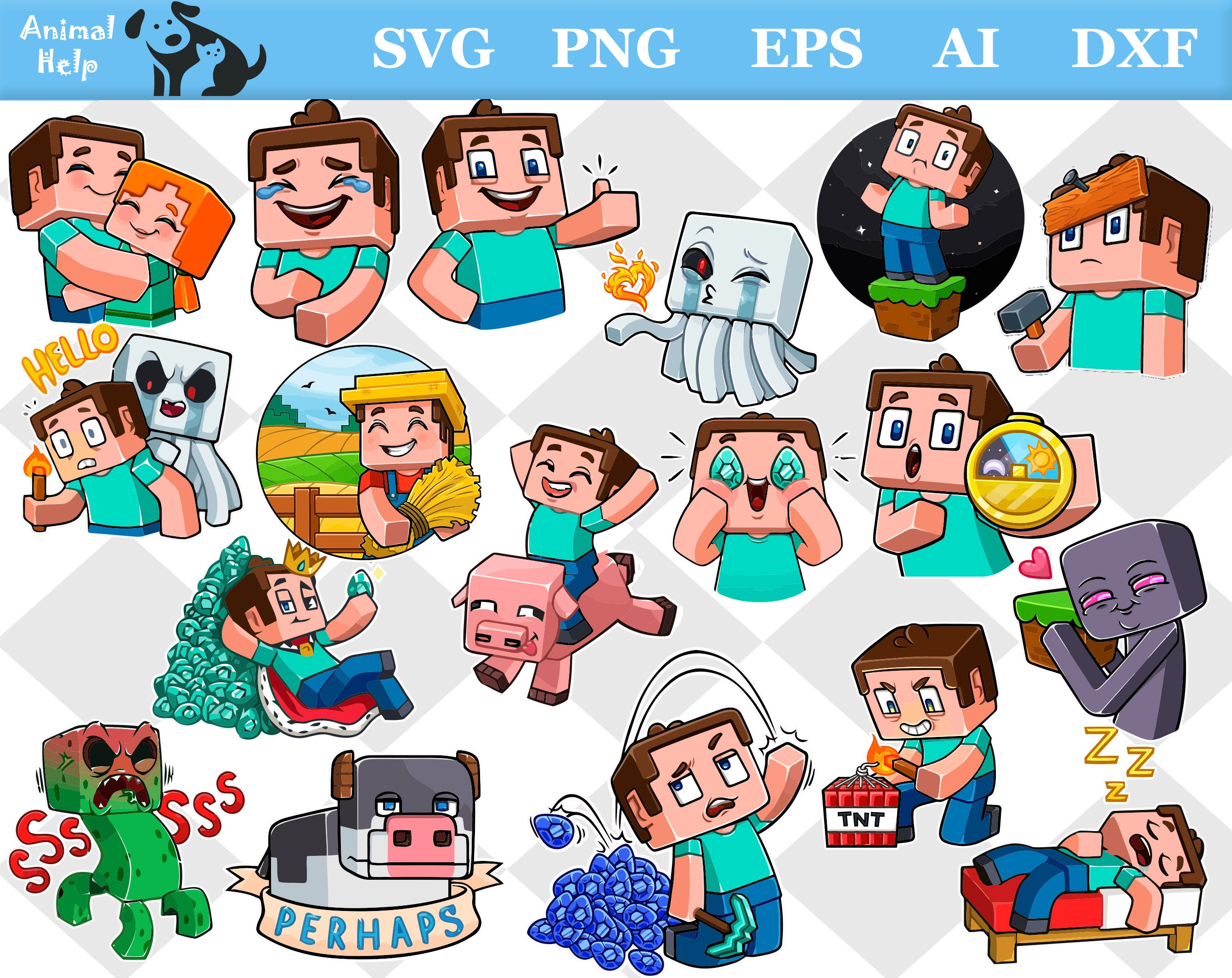 Minecraft svg, minecraft png, minecraft eps, minecraft dxf