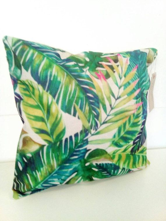 Fliesenspiegel Küche überkleben Green Leaf Tropical Pink Cushion Cover And Inner (with