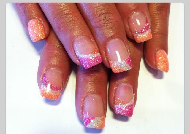 pink orange tips