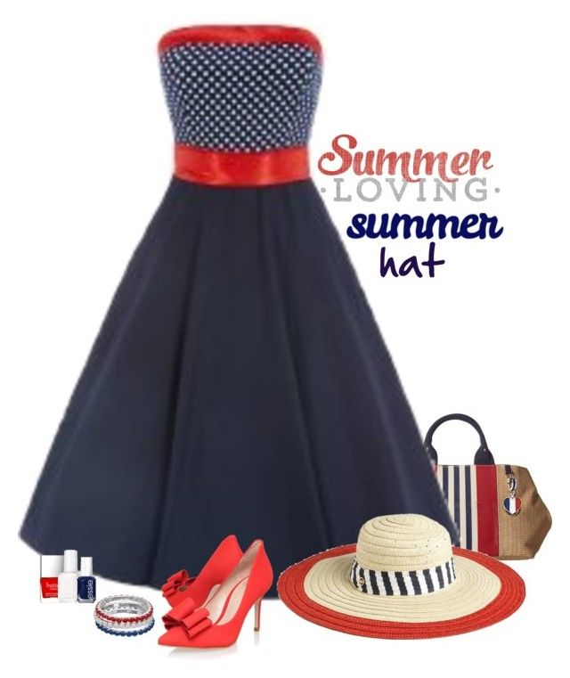 """""""Red, White & Blue"""" by molly2222 ❤ liked on Polyvore featuring Tommy Hilfiger, Juicy Couture, KG Kurt Geiger, Pandora, Butter London, Essie and summerhat"""