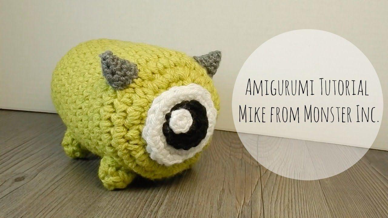 Amigurumi Monster Pattern Free Crochet : Amigurumi tsum tsum mike monster inc crochet crochet free