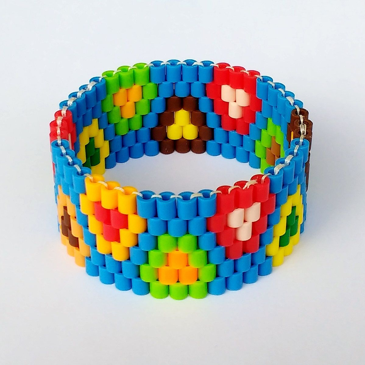 to bead perler bracelet beads how elastic watch with hama make easy