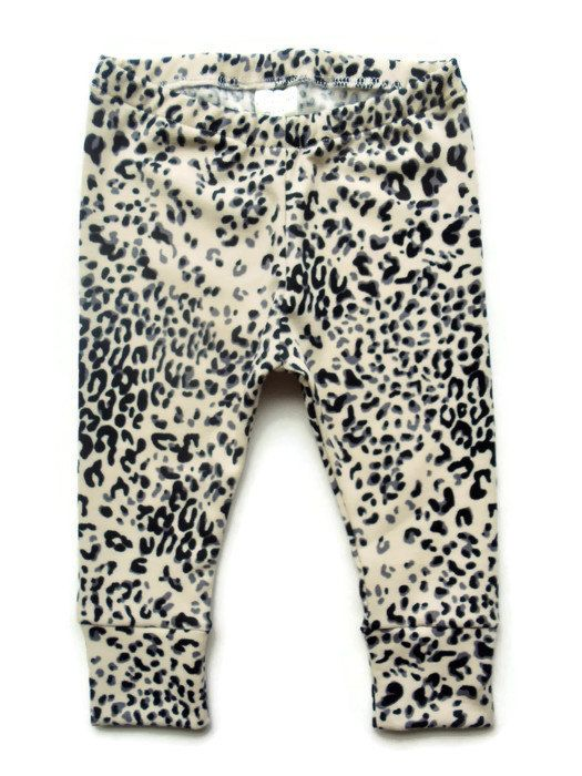 Gray Black on Cream Leopard Animal Print by Wildheartedapparel