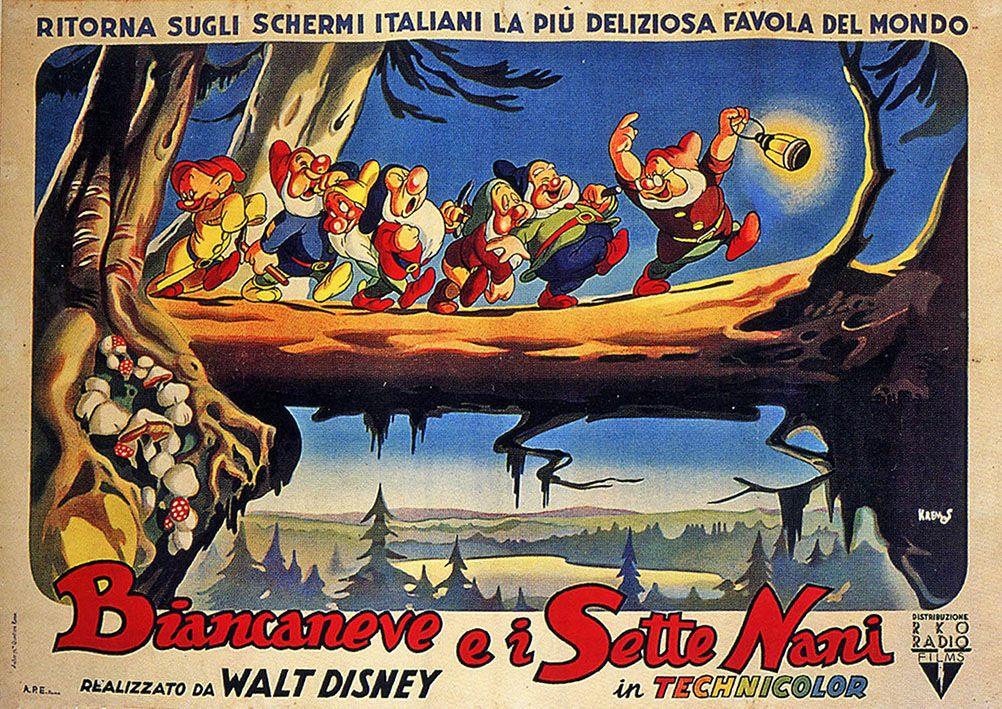 Biancaneve e i sette nani, seconda edizione italiana, distr. RKO 1949, 2f orizzontale (140x100 cm.).