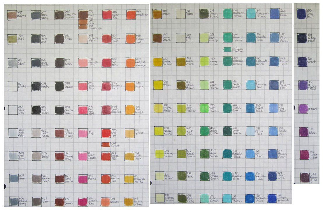 Caran DAche Pablo Color Chart By Josephine On Deviantart