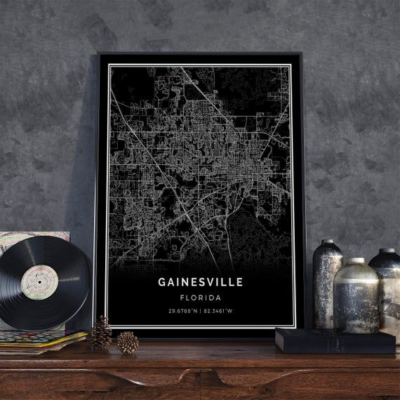 Gainesville Black Map