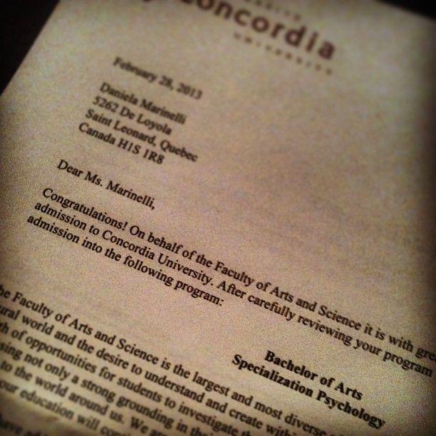 Congratulations! #instagram via @danycalifornia Finally got my - college acceptance letters