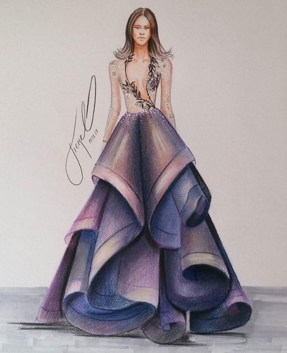 fashion illustration sketches dresses