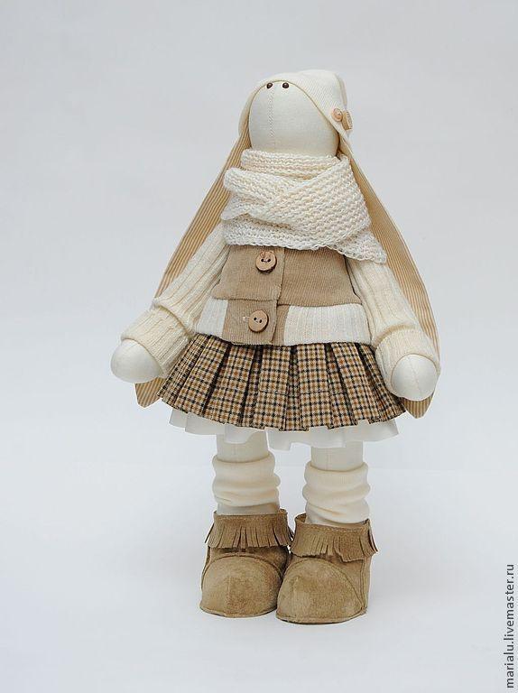 Купить Зая в бежевых тонах - белый, подарок девушке, подарок на любой случай