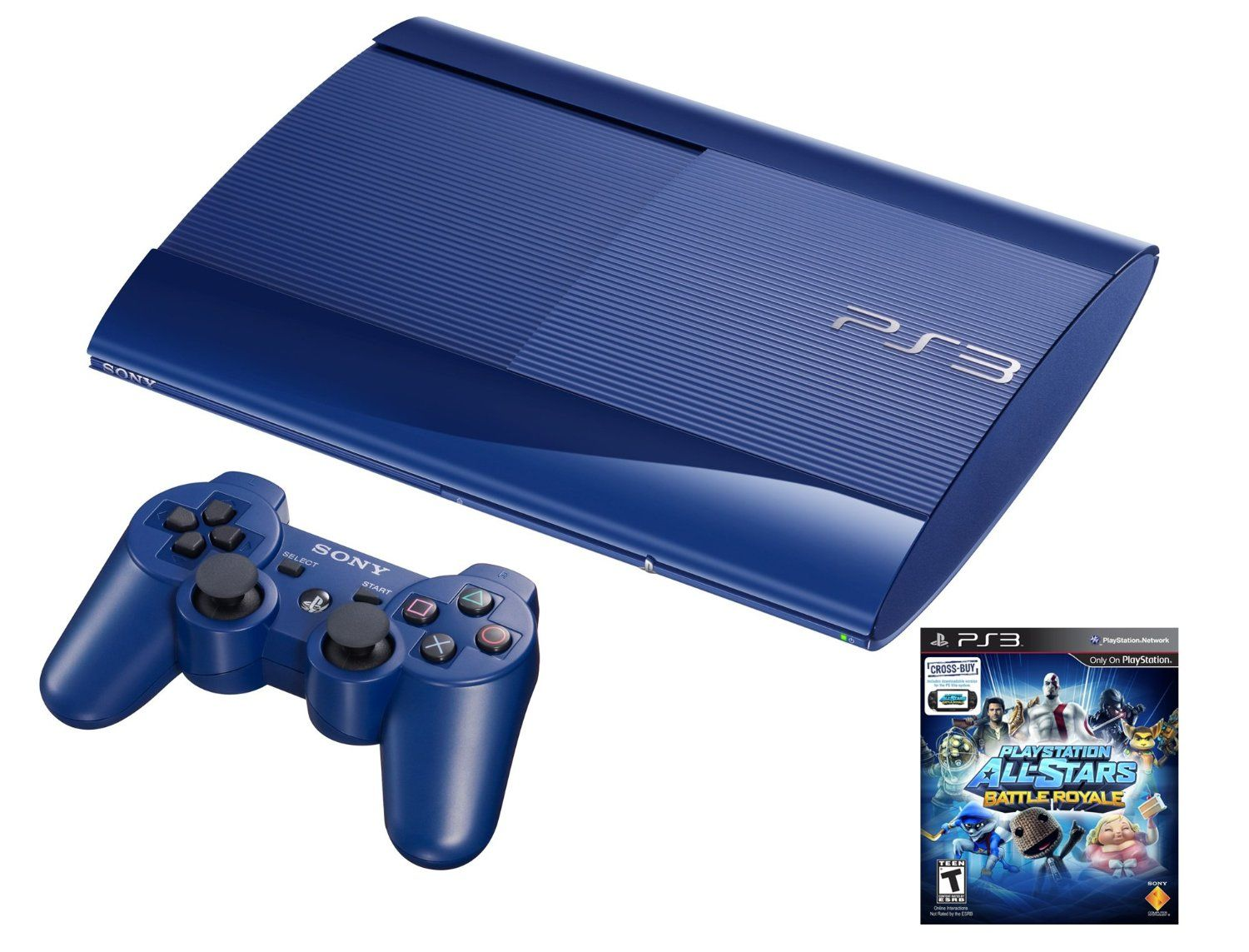 Amazon.com: PS3 Azurite 250GB System with PlayStation All-Stars Battle Royale Bundle ...