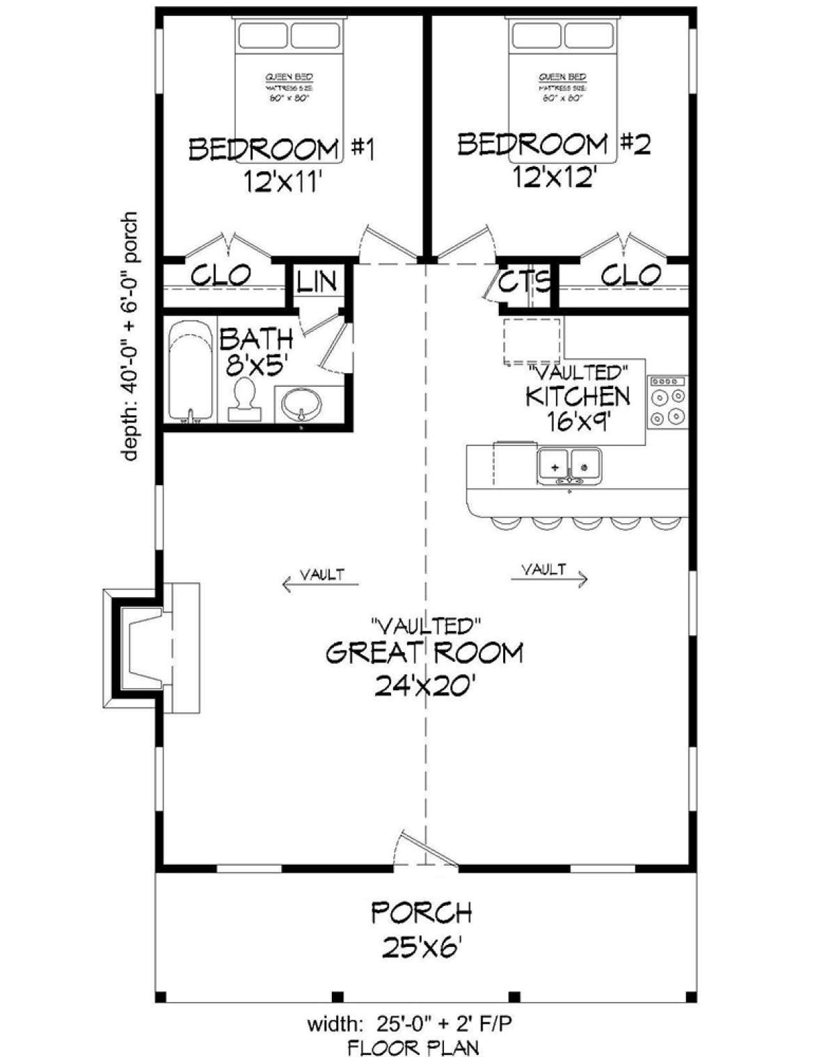 House Plan 940 00099 Cabin Plan 1 000 Square Feet 2 Bedrooms 1 Bathroom In 2020 Cabin Plans Tiny House Floor Plans House Plans