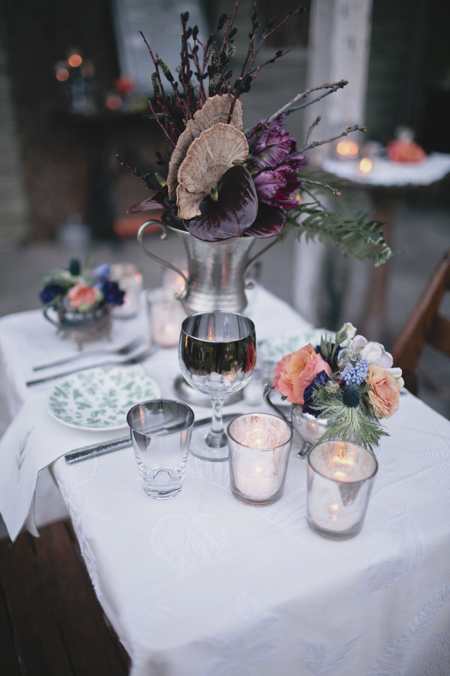 Flowers and styling by Mobtown Florals, Photography by Sarah Gormley - halloween wedding decoration ideas