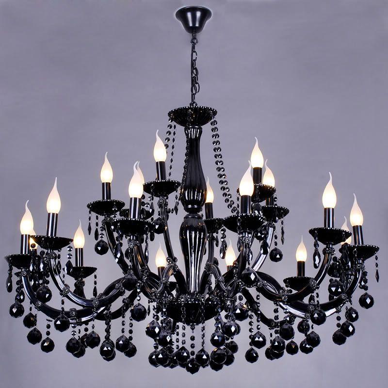 Lustre Noir Baroque