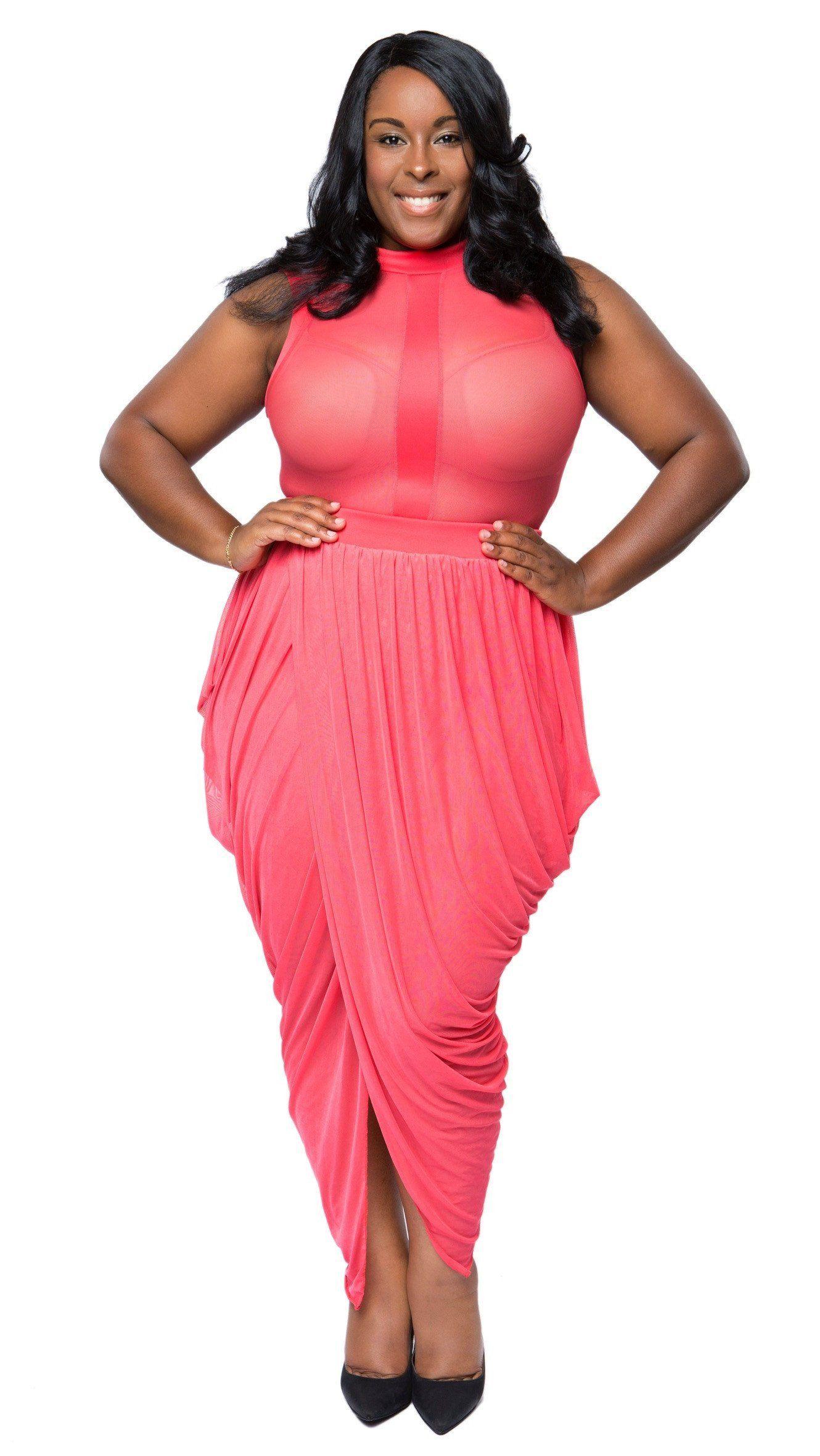 2a4eee107ccd6 Sheer Sensation 2Pcs Skirt Set (Coral)   Things to Wear   Skirt set ...