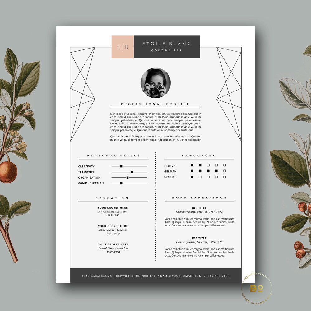 creative resume design modern resume template   cover