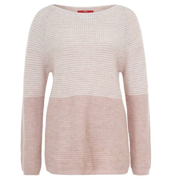 f4c7cd59f2d7 s.Oliver Pullover, Grobstrick, zweifarbig, meliert rosa   Fall ...