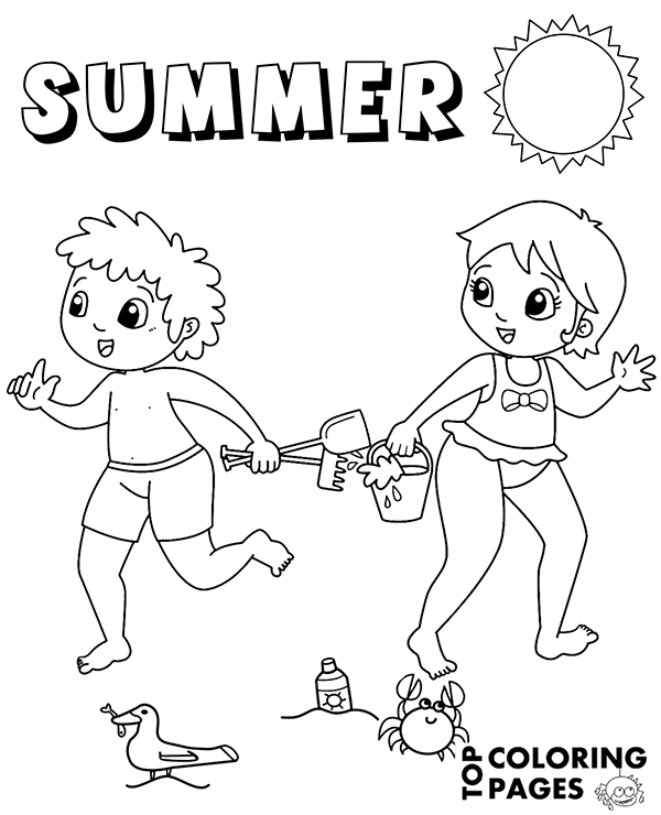 Check more Summer related coloring pages on Topcoloringpages.net ...